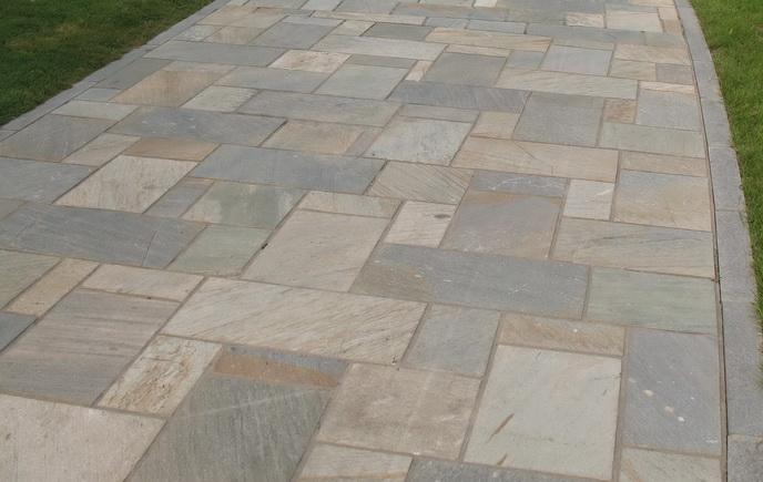 Silver Sunset Oyster Slate Flags Limited Stock Slate Paving